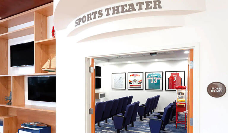 Sports Theatre In TRYP by Wyndham Maritime Fort Lauderdale, Florida